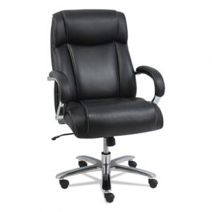 Alera 24/7 Multi-Shift 500 lb Big & Tall CoolSit Leather Executive Chair with Coil Springs