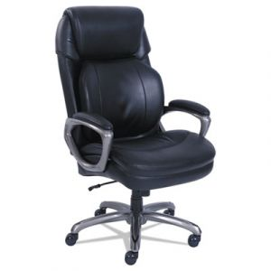 Serta 400 lb Capacity Executive Leather Chair with Reactive Ergonomic Support