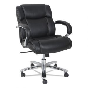 Alera 350 lb Big & Tall Leather Executive Chair with Chrome Base