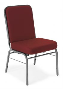 Super Comfort 300 LB Maximum Cushioned Stack Chair with Silver Vein Frame by OFM