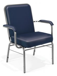 4 PACK OFM 500 Lb Big & Tall Vinyl Stacking Guest Chair