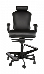 Concept Seating 550 LB 24/7 Multi-Shift Extra Wide Operator Stool with Headrest - Model 3152HR-MOD Stool