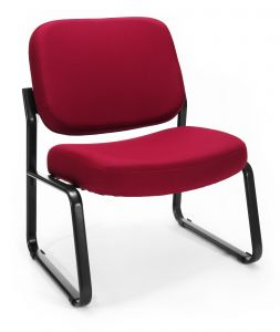 OFM Armless Big & Tall Fabric Side Reception Chair