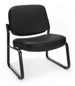 OFM Big & Tall Anti-Microbial/Anti-Bacterial Vinyl Side Guest Reception Chair