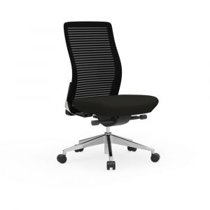 Cherryman Eon 300 LB Ergonomic Armless Task Chair with Black Frame