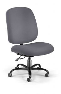 OFM Big & Tall 400 Lb Armless Task Chair with Back Height Adjustment