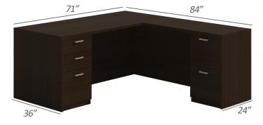 Husky Office® Heavy Duty Double Pedestal L-Desk-X-Large