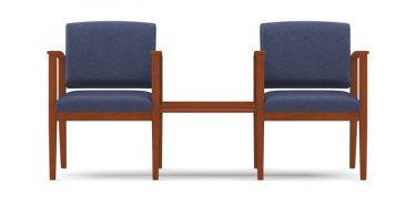 Lesro Amherst Wood® 2 Chairs With Connecting Center Table