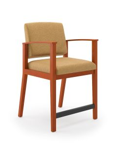 Lesro Amherst Wood® Big & Tall Hip Guest Chair
