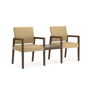 Lesro Brooklyn® 2 Chairs With Connecting  Center Table