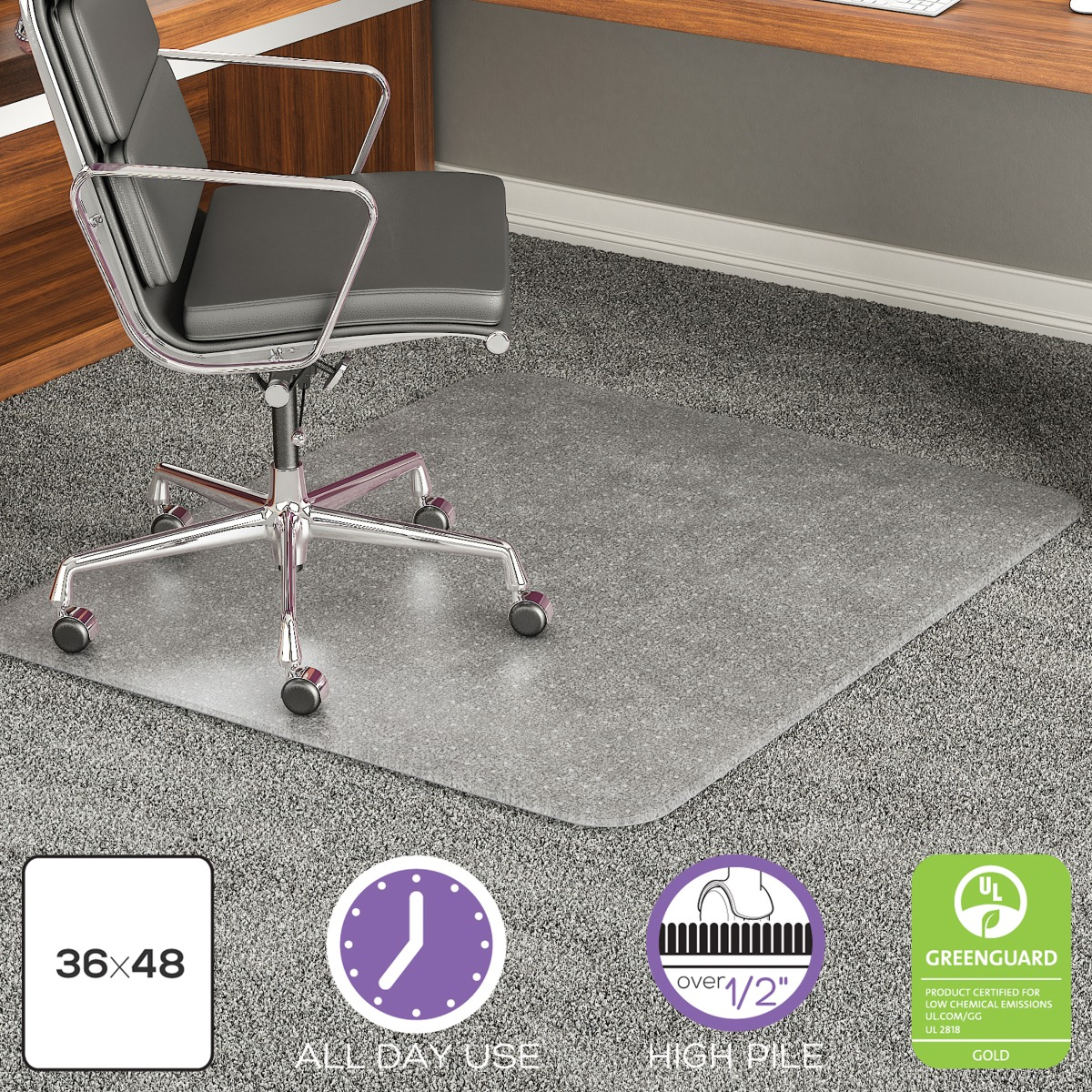 Big & Tall All-Pile Carpet Chair Mat with Beveled Edge