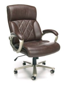 OFM Avenger Series 400 lb Big & Tall Executive Brown Leather Office Chair