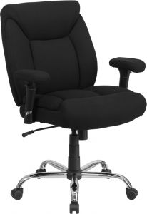 Husky Office® Heavy Duty 400 lb  Big & Tall Black Fabric Office Task Chair with Lumbar Support
