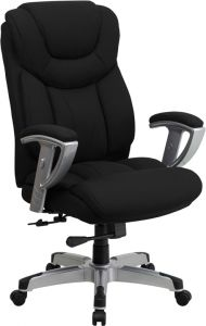 Husky Office® Heavy Duty 400 lb Big & Tall Black Fabric Office Executive Chair with Lumbar Support