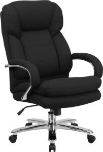 Husky Office® Samson Series Big & Tall 24/7 500 lb Black Fabric Executive Office Chair