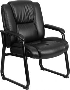 Husky Office® Ares 500 LB Capacity Big & Tall Padded Leather Executive Side Chair