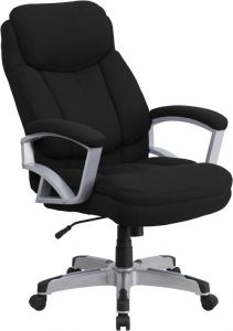 Husky Office® Heavy Duty 500 lb. Capacity Big & Tall Black Fabric Office Chair with Lumbar Support