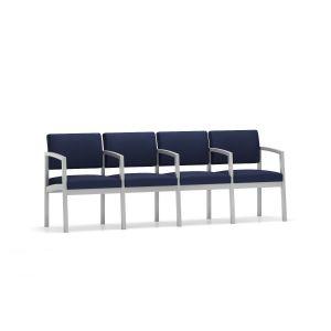 Lesro Lenox Steel® Heavy Duty 4 Seat With Center Arms Sofa