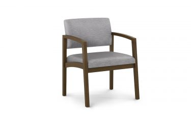 Lesro Lenox Wood® 400 LB Big & Tall Oversize Guest Chair