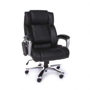 OFM 400 Lb Big & Tall Leather Executive Chair with Flip Up Table