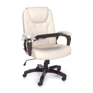 OFM Big & Tall 300 Lb Leather Executive Chair with Flip Up Table