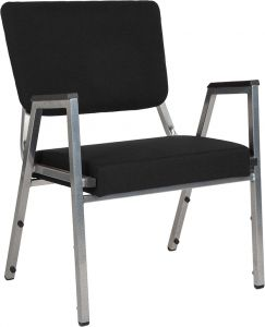 Husky Office® 1500 Lbs. Big & Tall Fabric Stack Reception Chair with Arms