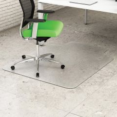 Big & Tall Eco-Friendly Hard Floor Chair Mat with Lip