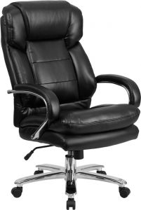 Husky Office® Samson Series Big & Tall 24/7 500 lb Black Leather Executive Office Chair