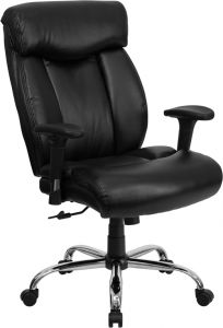 Husky Office® Ares Series 400 LB Capacity Leather Big & Tall Executive Swivel Chair with Arms