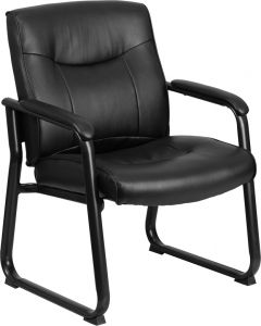 Husky Office® Ares 500 LB Capacity Big & Tall Leather Executive Side Chair