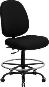 Husky Office® Heavy Duty 400 lb Capacity Big & Tall Drafting Stool with Extra Wide Seat