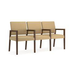 Lesro Brooklyn® Heavy Duty 3 Seat With Center Arms Sofa