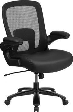 Husky Office® Big & Tall 500 lb Capacity Leather Swivel Task Chair