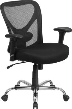 Husky Office® Ergonomic Adjustable Big & Tall 400 lb. Mesh Office Chair with Lumbar Support