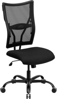 Husky Office® Heavy Duty 400 lb. Capacity Big & Tall High Back Black Mesh Office Chair
