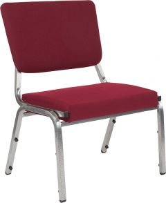 Husky Office® 1500 Lbs. Big & Tall Fabric Stack Reception Chair