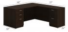 Husky Office® Heavy Duty Double Pedestal L-Desk-Small