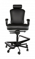 Concept Seating 550 LB 24/7 Multi-Shift Extra Wide Operator Stool with Headrest - Model 3152HR Stool